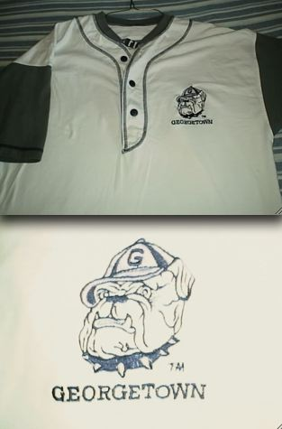 timeless design 0cd2f 70ad3 Who Gives A Shirt? Georgetown Hoyas Baseball Jersey EM7500569